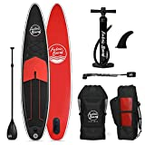 FabricBoard Paddle Surf Hinchable, Unisex-Adult, Negro y Rojo, Large