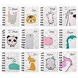 Czemo 12 Stück Klein Notizbuch Kinder Mini Notizblock A7 Notizbuch Spiralnotizblock für Notizen, To-do-Listen