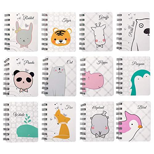 Czemo Libreta Pequeña de Bolsillo Cuaderno Pequeño Regalos Cumpleaños Niños Colegio, Pack de 12 (#1)