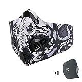 Máscara de Avanigo antipolvo, antipolen, antiescapes de gas de carbono activo para deportes al aire libre (ciclismo, athletismo), blanco