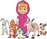 Simba - 109301060 - Masha & Michka - Masha et ses Amis Animaux - 5 Figurines - 12 Cm