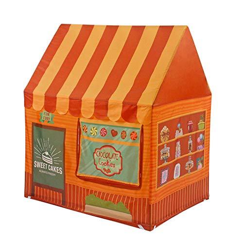 Simulé Playhouse Magasin Tissu Enfants,Grands Pop-up Pliable pour Enfants Tente intérieure et extérieure Princesse Jouet château garçons et Filles-B