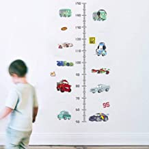 Lovely Cartoon Cars Height Measure Stickers Wall Decoration Decals for Room Removable Growth Chart Stadiometers Boys Mural