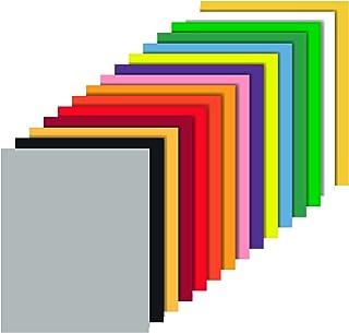 Heat Transfer Vinyl 15 Packs 12'' x 10'' Sheets Iron on Vinyl, 15 Assorted Colors Sheets, Iron on Vinyl Sheets for DIY T-S...