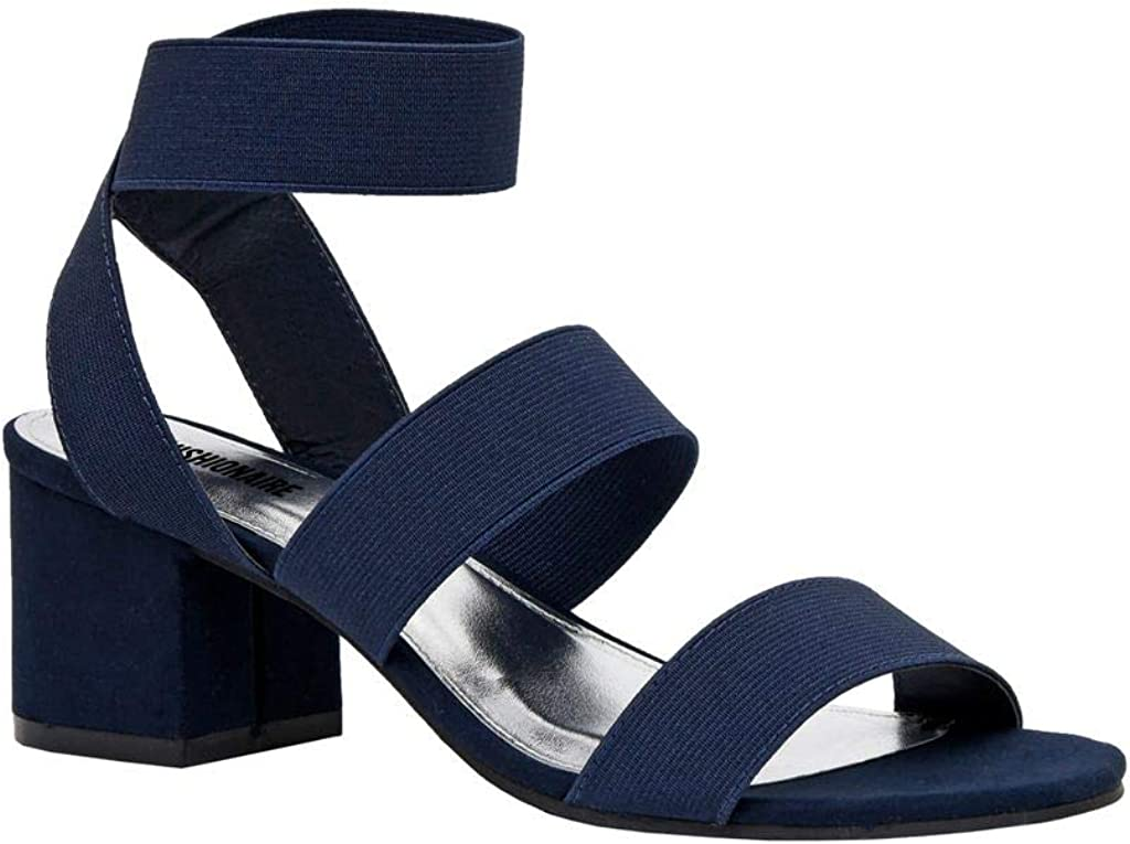 CUSHIONAIRE Women's Aria Stretch Popular brand in the world mid F Heel Sandal Block Max 88% OFF +Memory
