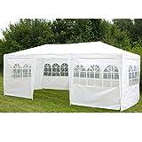 Partyzelt 3x6x2,5m Pavillon Zelt Gartenpavillon Stabiles und Wasserfestes Festzelt in weiß mit Fenstern und Seitenwänden 18m² Gazebo Gartenzelt für Feiern Aller Art
