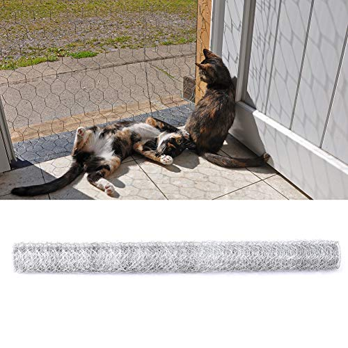 Warmiehomy Gardening Chicken Wire Mesh Fencing Garden Netting Rabbit Cat Pet Plant Protection Mesh Wire Roll Fence Outdoor Galvanised Netting Supplies 0.9x25m
