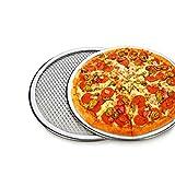 Pizza Stone of 1 piece 12' Seamless Rim Aluminium Pizza Mesh Pizza Screen Baking Tray Pizza Making Net Bakeware Pizza Tools