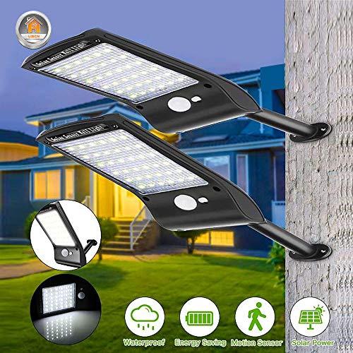 Led Solar Light Outdoor Waterdichte lamp voor buiten, zonder zonne-energie, met bewegingssensor, wandlamp, omheining, trap, tuin, zonne-licht