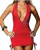Donna Sexy Gonna Scollo A Rosso abito da cocktail