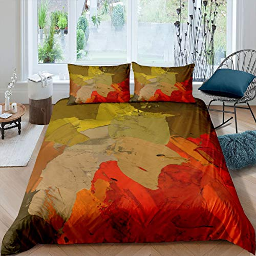 Oil Painting Bedspread Cover Abstract Art Duvet Cover Simple Modern Bedding Set for Boys Girls Children Teens Bedroom Decor Comforter Cover King Size With 2 Pillow Case