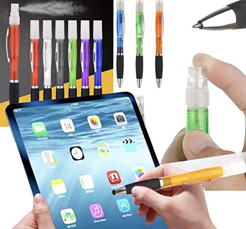 Kiroplast 6 Desinfektionsstifte 3 in 1 Behälter Spray Touch Screen Kugelschreiber Buntstifte Duft Sprühstift Hygiene-Stift