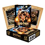 AQUARIUS Harry Potter Playing Cards - Sorcerer's Stone Deck of Cards for Your Favorite Card Games - Officially Licensed Harry Potter Merchandise & Collectibles - Poker Size with Linen Finish