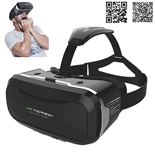 3D VR Brille Headset mit verstellbarem Objektiv und Strap für 3,5–14 Smart Handys Upgraded Version