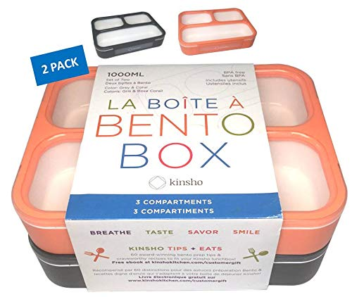 Bento Box Lunch Boxes Adults Compartment Containers