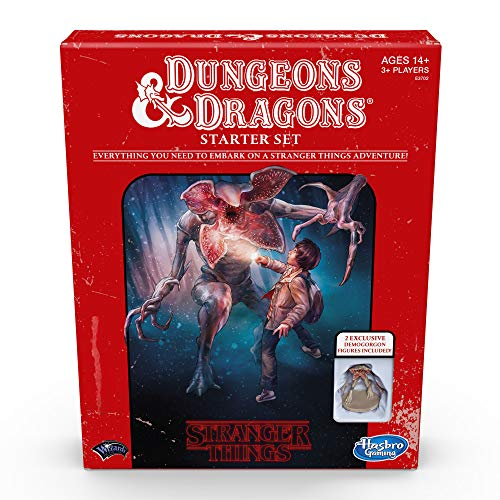 Hasbro Gaming E3702102 Stranger Things Dungeons & Dragons Role-Playing Game Starter Set, Mehrfarbig