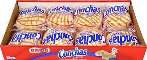 BIMBO Conchas Panaderia Mexicana Pan de Dulce ( Fine pastry) 16oz, pack of 1