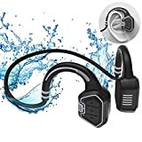 Open Ear Headphones,Wireless Bone Conduction Headset Bluetooth 5.1 with Mic -MP3 Play Built-in 16G Memory,IP68 Waterproof Sweatproof - Music Answer Phone Call for Swimming Hiking Driving Bicycling