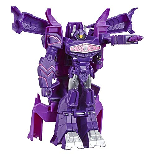 Transformers Toys Cyberverse Action Attackers: 1-Step Changer Shockwave Action Figure -Repeatable Shock Blast Action Attack - for Kids Ages 6 & Up, 4.25'