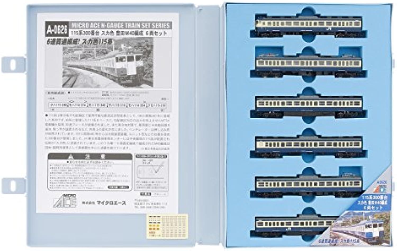 Series 115-300 Yokosuka Colour Toyoda Train Yard Formation M40 (6-Car Set) (Model Train)