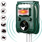 Best Animal Repellers - ZOVENCHI Ultrasonic Animal Repeller, Solar Powered Waterproof Outdoor Review