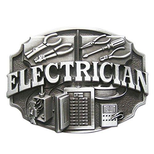 JEAN'S FRIEND New Vintage Electrician Trades Tradesman Belt Buckle Gürtelschnallen US Stock