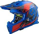 LS2 404373625M - Casco de motocross MX437 Fast Evo Alpha, unisex, azul mate, talla M