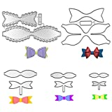 Metal Bow Die Cuts Bow Cutting Dies Nesting Die Embossing Stencils Template Mould for Card Scrapbooking and DIY Crafts 5 Set