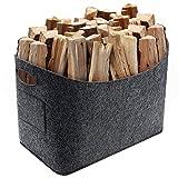 Vintoney Borsa portalegna in Feltro giornali per legna da ardere, ecc.