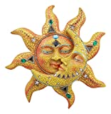 Ebros Mosaic Sun and Moon Wall Decor 12' Tall Day Surrendering Unto Night Wall Mount