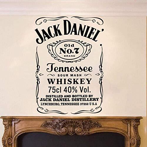 Wandtattoo Jack Daniel Englischer Wandaufkleber Wohnzimmer Sofa Schlafzimmer Wandaufkleber 56cm × 40cm*2Pcs