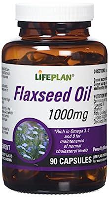 Lifeplan Flaxseed Vegicaps Oil 1000mg 90 Capsules