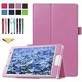TianTa Funda para Sony Xperia Z4 Tablet, PU Cuero Slim Folding Soporte Cover Case con Auto Sleep/Wake para Sony Xperia Tablet Z4-10.1 Pulgada Tablet, Rosado