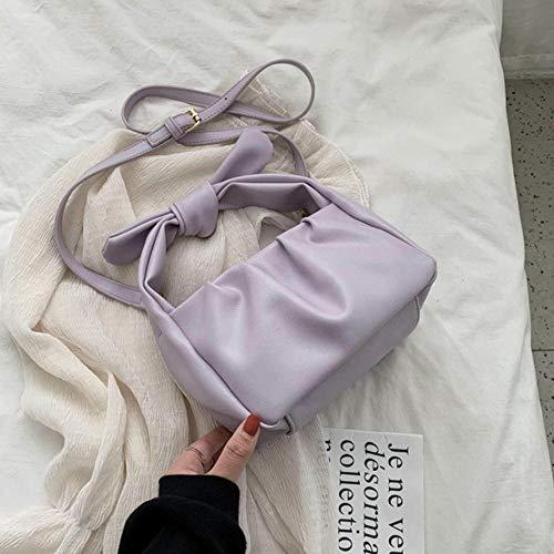 PANZZ Sacs fourre-Tout Femmes Sacs à Main Couleur Unie Sac à bandoulière bandoulière d'été Lady Bag, Violet, 21cmx13cmx11cm