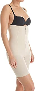 Annette Women's Faja Extra Firm Control High Waisted Mid Thigh Shaper with Invisible Zipper