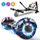 NEOMOTION Hoverboard di 6,5 Pollici Overboard e Hoverkart Hover Board con Bluetooth LED Flash...