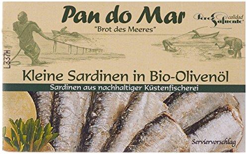 Pan do Mar Kleine Sardinen in Bio Olivenöl (1 x 120 g)