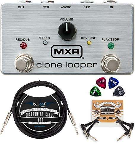 MXR M303 Clone Looper Pedal Bundle with Blucoil 10-FT Straight Instrument Cable...