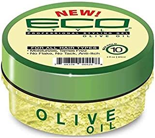 (PACK OF 3) Eco Style Styling Gel Travel Size 3oz (OLIVE)
