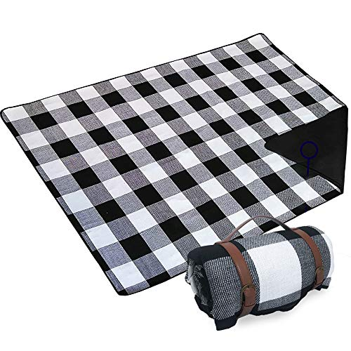 Artall Picknickdecke Stranddecke Picknickdecke Wasserdicht 200x200CM 2-6 Personen Picknickdecke XXL Campingdecke wärmeisoliert Familiengre Matte für Picknicks Essen im Freien Camping Strand