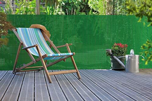 Nortene Brise-Vue extrudé d'inspiration Naturelle Panama Vert - 1,20 x 5 m
