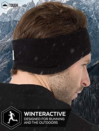 Tough Headwear Ear Warmer Headband – Winter Fleece Ear Cover for Men & Women – Warm & Cozy Cold Weather Ear Muffs for Running, Cycling, Sports & Daily Wear – Soft & Stretchy Earmuffs – Ear Band