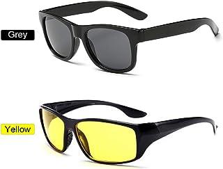Óculos de sol GoolRC fashion para dirigir à noite, visão antirreflexo e segurança (cinza)