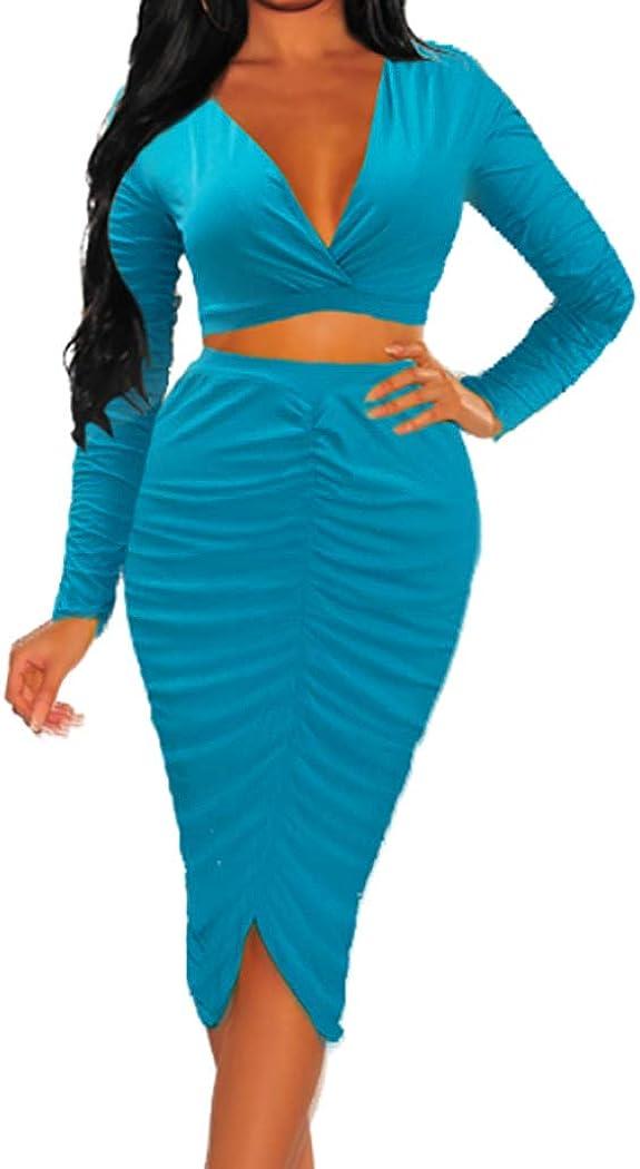 Women Bodycon Dress Sexy Crew Neck Strap Design Long Sleeve Side Split Formal