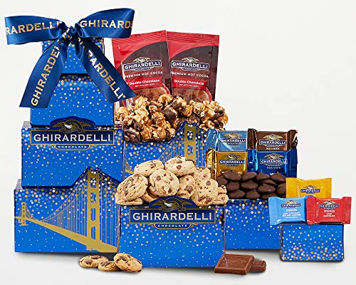 Gift Chocolate- Ghirardelli Chocolate Gift Tower With Ice Pack by Wine Country Gift Baskets