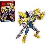 Bas Avengers Figuras de acción Marvel Legends Toy Spider Man muñecas Gift Playset Thanos Titan Hero Model Avengers Endgame Black Panther Deadpool Estatua Decoración para niños Deadpool-Thanos
