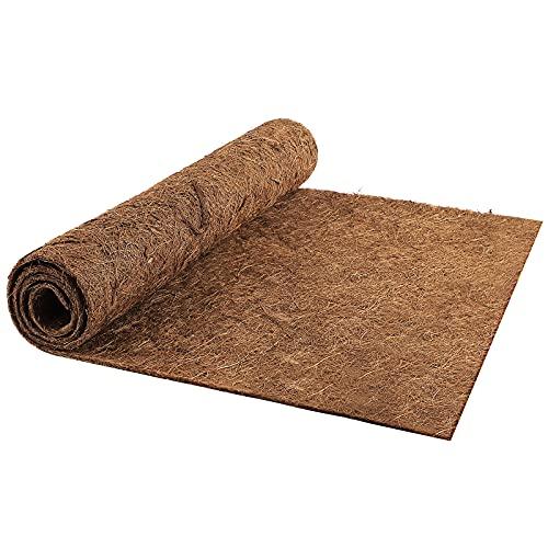 Wisolt 1 m * 0,5 m Co-Co - Forro para cestas Colgantes, Rollo de Forro de Fibra de Coco, Ideal para alfombras, cestas Colgantes, comederos de Pared, jardineras, contenedores de Patio