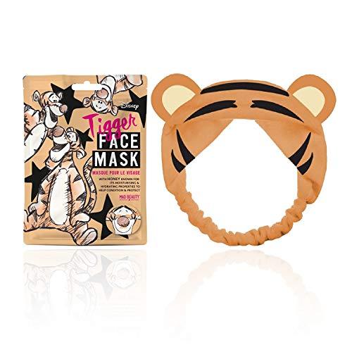MAD Beauty Pack Mascarilla Facial + Banda Felpa Pelo Tiger, Translúcido, 25 Ml
