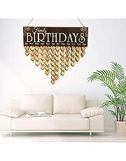 Yesiidor - Placa de recordatorio de cumpleaños para Fiesta, Creativa, en Blanco, para Escribir en el Mensaje, para decoración de casa u Oficina, Madera, Picture Color 2, 40 * 12 * 0.5cm