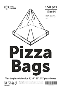Soyuz Polymer Disposable Take Out Pizza Bags, M, Carry Pizza Boxes 8-12